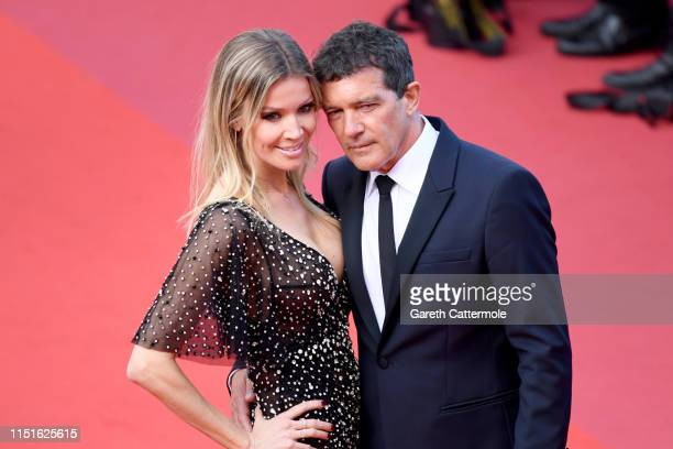 Nicole Kimpel and Antonio Banderas attend the closing ceremony screening of The Specials during the 72nd annual Cannes Film Festival on May 25 2019...