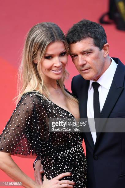 """Nicole Kimpel and Antonio Banderas attend the closing ceremony screening of """"The Specials"""" during the 72nd annual Cannes Film Festival on May 25,..."""