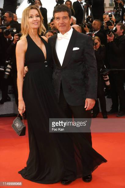 Nicole Kimpel and Antonio Banderas attend the screening of Pain And Glory during the 72nd annual Cannes Film Festival on May 17 2019 in Cannes France...