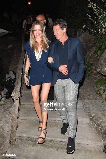 Nicole Kimpel and Antonio Banderas attends 2017 Ischia Global Film Music Fest on July 13 2017 in Ischia Italy