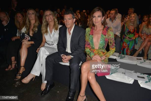 Nicole Kimpel Antonio Banderas and Nieves Alvarez sit front row for Ágatha Ruiz de la Prada Fashion Show at Miami Fashion Week at Ice Palace Film...