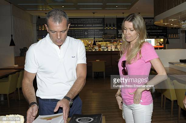 Nicole Kimpel attends the presentation of Antonio Banderas's first clothes collection for men at Corte Ingles on August 9 2016 in Marbella Spain