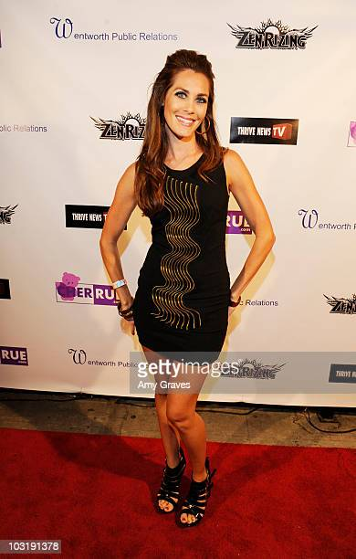 Nicole Kruse attends Cher Rue's Birthday Bash For Diabetes Awareness at Life on Wilshire on July 31 2010 in Los Angeles California