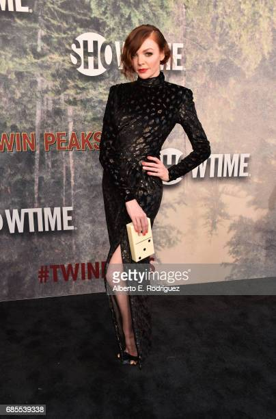 Nicole LaLiberte attends the premiere of Showtime's 'Twin Peaks' at The Theatre at Ace Hotel on May 19 2017 in Los Angeles California