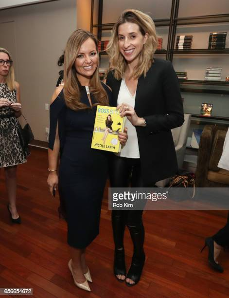 Nicole Lapin and Katia Beauchamp attend the Female Bosses celebration and BOSS BITCH book launch and interactive panel event at The Core Club on...