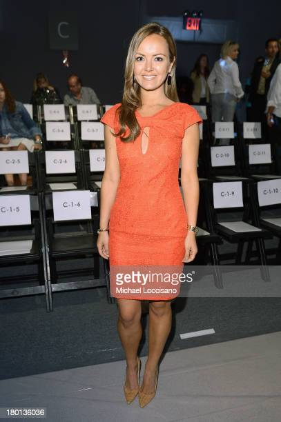 Nicole Lapin attends the Pamella Roland fashion show during MercedesBenz Fashion Week Spring 2014 at The Studio at Lincoln Center on September 9 2013...