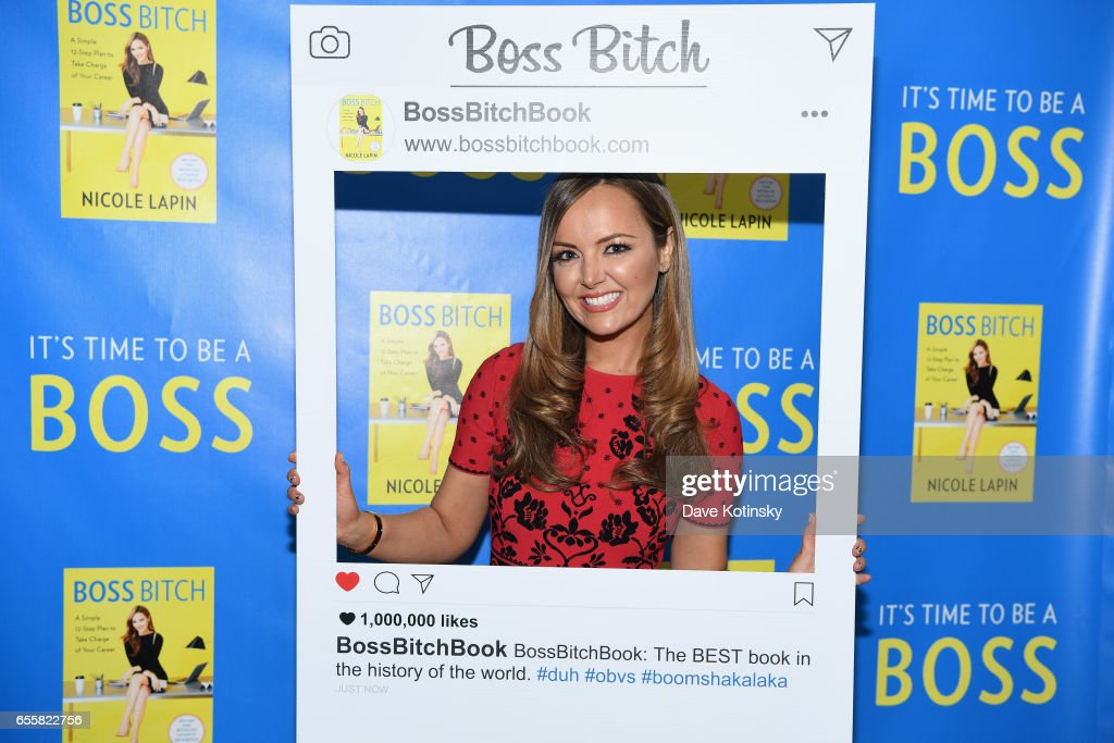 Nicole Lapin poses at a private party to celebrate the release of her second book 'BOSS BITCH' at a private residence on March 20, 2017 in New York City.