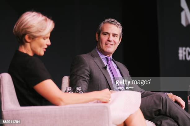 Nicole Laporte and Andy Cohen speak onstage at Andy Cohen and Cecile Richards on Activism Pop Culture and Why Authenticity Is The Only Way Forward...