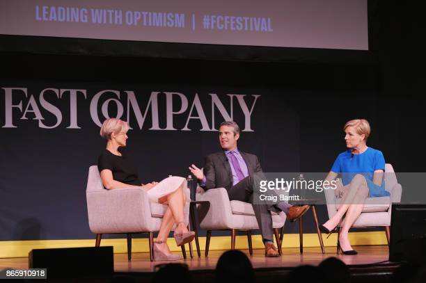 Nicole Laporte Andy Cohen and Cecile Richard speak onstage at Andy Cohen and Cecile Richards on Activism Pop Culture and Why Authenticity Is The Only...