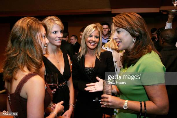 Nicole Lunders girlfriend of driver Greg Biffle Katie Kenseth Eva Bryan fiancee of driver Kurt Busch and Tammy Dyer wife of Nascar VP of licensing...