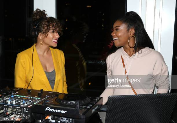 Nicole Lyn aka DJ Ms Mix and Gabrielle Union attend the Martini Rossi Gabrielle Union Book Tour After Party at The Jimmy at the James Hotel on...