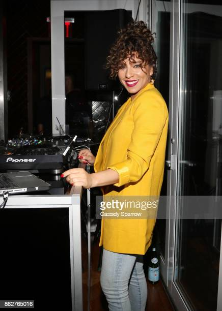 Nicole Lyn aka DJ Ms Mix spins the Martini Rossi Gabrielle Union Book Tour After Party at The Jimmy at the James Hotel on October 17 2017 in New York...