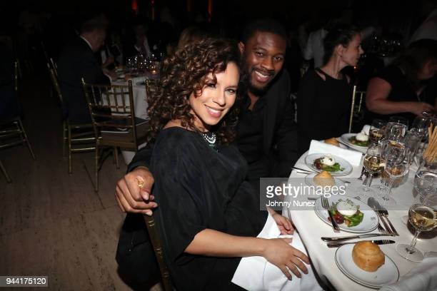 Nicole Lyn and Chad Easterling attend The Opportunity Network's 11th Annual Night of Opportunity at Cipriani Wall Street on April 9 2018 in New York...