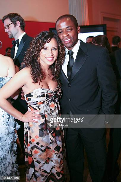 Nicole Lyn and Dule Hill attend the Jason Binn Capitol File Hosts White House Correspondents Dinner After Party on May 9 2009 in Washington DC