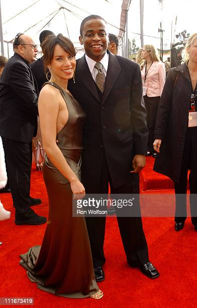 Nicole Lyn and Dule Hill during 10th Annual Screen Actors Guild Awards Red Carpet at Shrine Auditorium in Los Angeles California United States