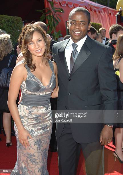 Nicole Lyn and Dule Hill during 58th Annual Primetime Emmy Awards Arrivals at Shrine Auditorium in Los Angeles California United States