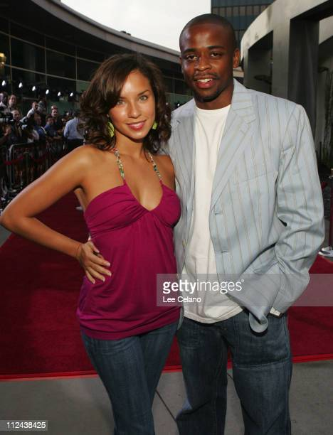Nicole Lyn and Dule Hill during Hustle Flow Los Angeles Premiere Red Carpet at ArcLight Cinerama Dome in Hollywood California United States