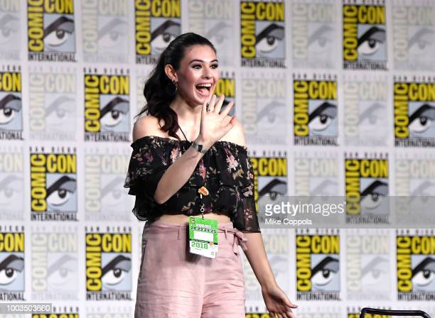 Nicole Maines walks onstage at the Supergirl Special Video Presentation and QA during ComicCon International 2018 at San Diego Convention Center on...