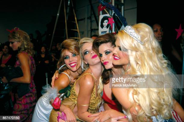 Nicole Marie Lenz Kristi Kay Cline Carrie Stephens Victoria Silvstedt Betsey Johnson fashion show NYC September 19 2000