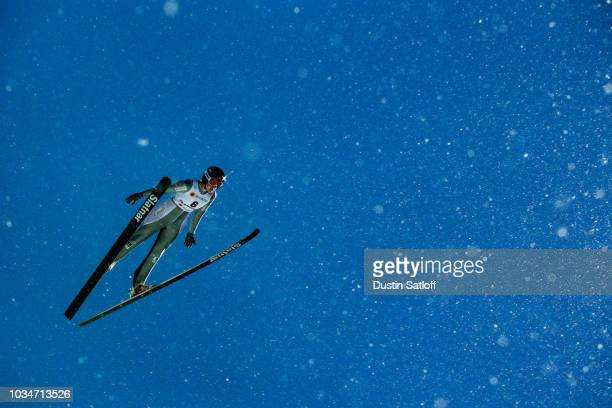 Nicole Maurer of Canada competes in the Women's Ski Jumping HS100 during the FIS Nordic World Ski Championships on February 24 2017 in Lahti Finland