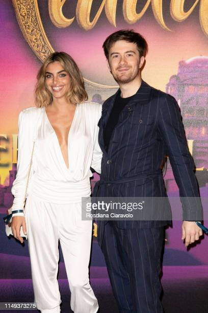 Nicole Mazzocato and Francesco Sole attend the Aladdin photocall and red carpet at The Space Cinema Odeon on May 15 2019 in Milan Italy