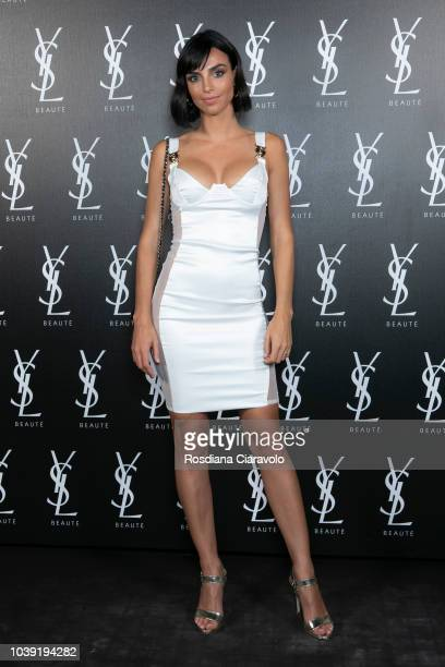 Nicole Mazzocato attends Ysl Beauty Club Milan during Milan Fashion Week Spring/Summer 2019 on September 23 2018 in Milan Italy
