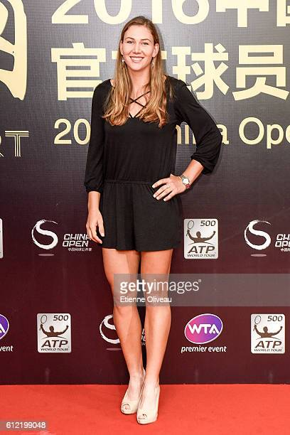Nicole Melichar of the United States arrives at the 2016 China Open Player Party at The Birds Nest on October 3 2016 in Beijing China