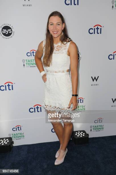 Nicole Melichard attends the Citi Taste Of Tennis Miami 2018 at W Miami on March 19 2018 in Miami Florida