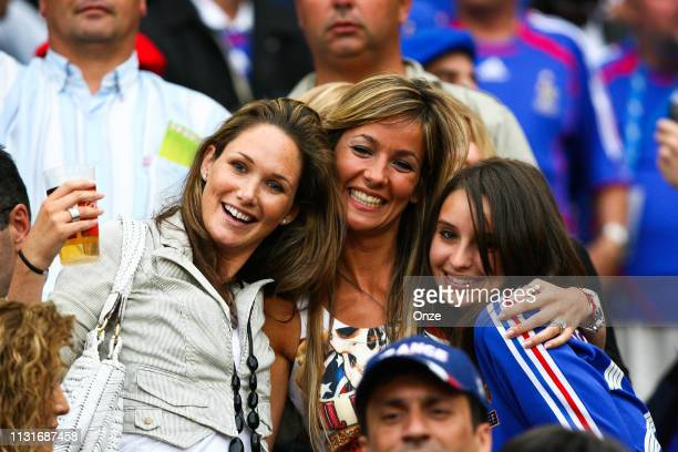Nicole Merry the wife of Thierry Henry of France and Baatrice Villalva Trezeguet the wife of David Trezeguet of France during the FIFA World Cup...