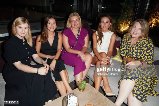 Nicole Mierswa, Lina Marie Gralka, Anthea Ewert, Franca Lehfeldt and Franziska Leonhardt attend the Iphoria Influencer event at Hotel Zoo on August...