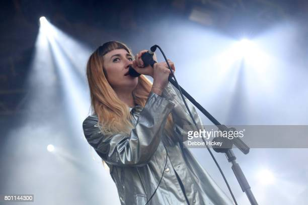 Nicole Miglis of Hundred Waters performs at Body Soul Festival at Ballinlough Castle on June 25 2017 in Co Westmeath Ireland