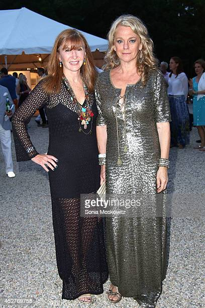 Nicole Miller and Debbie Bancroft attend 21st Annual Watermill Summer Benefit at The Watermill Center on July 26 2014 in Water Mill New York