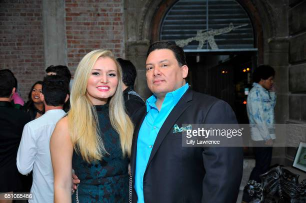 Nicole Miller and George Avants attend Karen Bystedt's 'Kings And Queens' exhibition on March 9 2017 in Los Angeles California