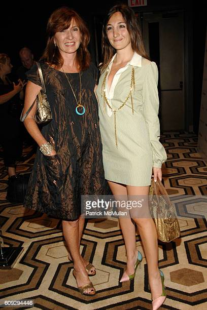 Nicole Miller and Nicole Romano attend THE CINEMA SOCIETY andDIOR BEAUTY host a screening of INTERVIEW at Tribeca Grand Hotel on July 11 2007 in New...