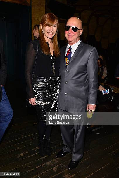 Nicole Miller and Paul Shaffer attends the DuJour Magazine Spring 2013 Issue Celebration at The Darby on March 27 2013 in New York City
