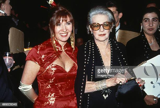 Nicole Miller and Pauline Trigere attend the 12th Annual Council of Fashion Designers of America Awards at Lincoln Center circa 1993 in New York City