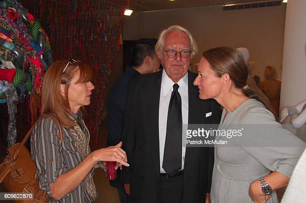 Nicole Miller Richard Meier and Tina Lutz attend LUTZ amd PATMOS Spring 2008 Collection Presentation at Greene Naftali Gallery NYC on September 10...
