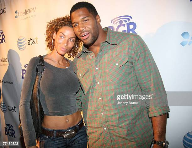 Nicole Mitchell and Michael Strahan attends 1 Year Anniversary of The Boy Genius Report - Inside on October 23, 2007 in New York City, NY.