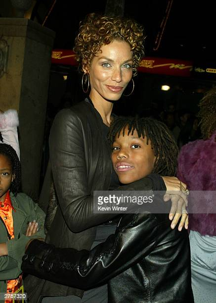 """Nicole Mitchell , and their son Miles arrive at the premiere of """"The Haunted Mansion"""" held on November 23, 2003 at the El Capitan Theater, in Los..."""