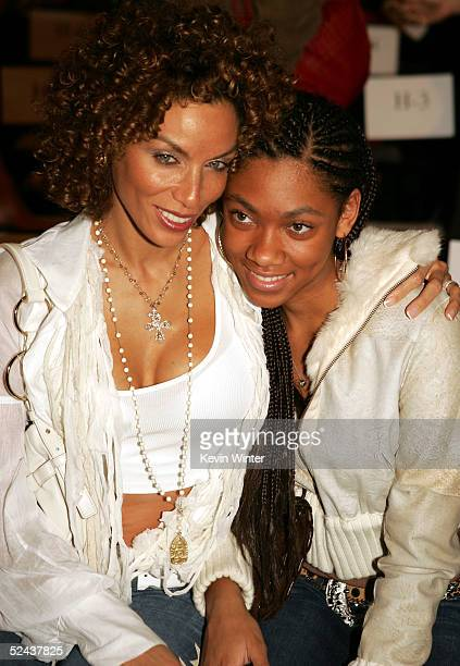 Nicole Mitchell Murphy and daughter in the front row at the Petro Zillia Fall 2005 show at Mercedes Benz Fashion Week at Smashbox Studios on March 16...