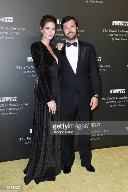Nicole Moellhausen and Giovanni Tronchetti Provera attend the presentation of the Pirelli 2020 Calendar Looking For Juliet at Teatro Filarmonico on...