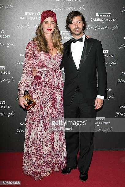 Nicole Moellhausen and Giovanni TronchettiProvera attend 'Pirelli Calendar 2017 by Peter Lindberg' photocall at La Cite Du Cinema on November 29 2016...