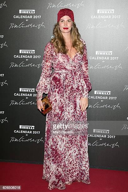 Nicole Moellhausen attends 'Pirelli Calendar 2017 by Peter Lindberg' photocall at La Cite Du Cinema on November 29 2016 in SaintDenis France