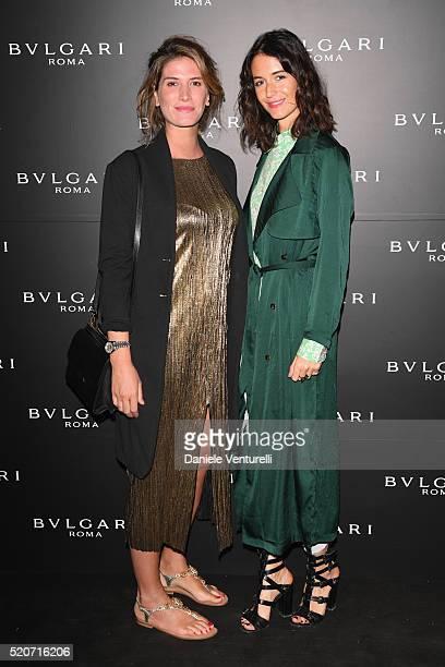 Nicole Moellhausen Tronchetti Provera and Susanna Giaroli attend BVLGARI Celebration of BZero1 At Milan Design Week at Hotel Bulgari on April 12 2016...
