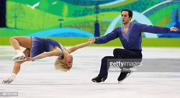 Nicole Monica Della and Yannick Kacon of Italy compete in the figure skating pairs free skating on day 4 of the Vancouver 2010 Winter Olympics at the...