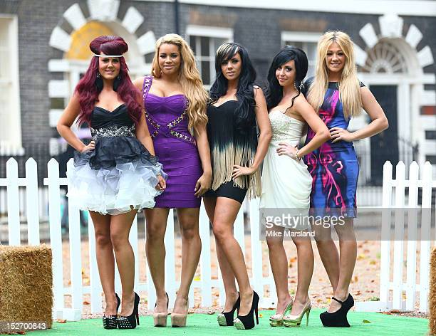 Nicole Morris Carley Belmonte Natalee Harris Lateysha Grace and Jenna Jonathon attend a photocall ahead of the new series of 'The Valleys' on...