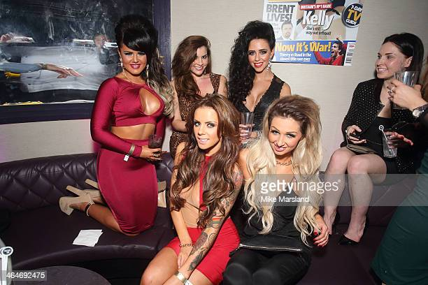 Nicole Morris Imogen Thomas and Jenna Jonathan attend Nuts 10th Birthday Party at Aura on January 23 2014 in London England