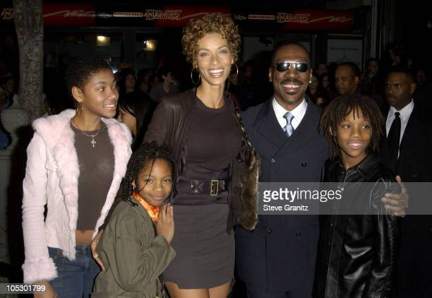 Nicole Murphy and Eddie Murphy and Family during 'The Haunted Mansion' World Premiere at El Capitan Theatre in Hollywood California United States