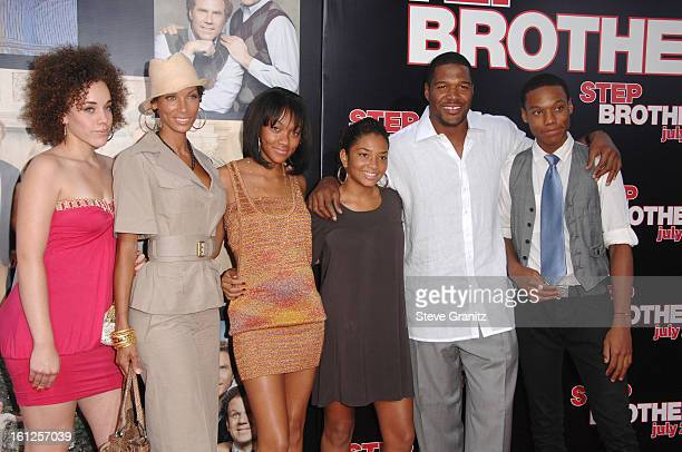 """Nicole Murphy and Michael Strahan arrives at the Premiere of Columbia Pictures' """"Step Brothers"""" at the Mann Village Theater on July 14, 2008 in Los..."""