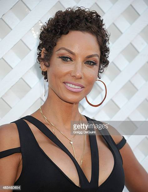 Nicole Murphy arrives at HollyRod Foundation's 17th Annual DesignCare Gala at The Lot Studios on August 8 2015 in Los Angeles California